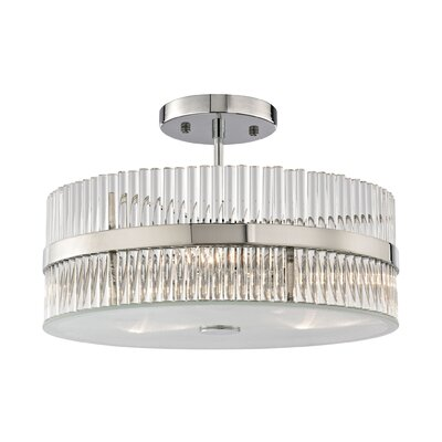 Amezquita 3-Light Semi Flush Mount Bulb Type: 60W Incandescent