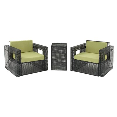 Jeffrey 3 Piece Deep Seating Group with Cushion