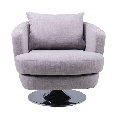 Sitton Fabric Swivel Armchair Upholstery: Grey