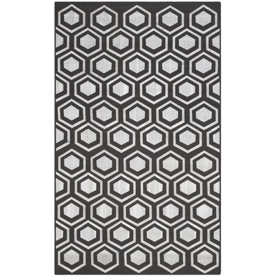 Barrier Charcoal Area Rug Rug Size: 5 x 8