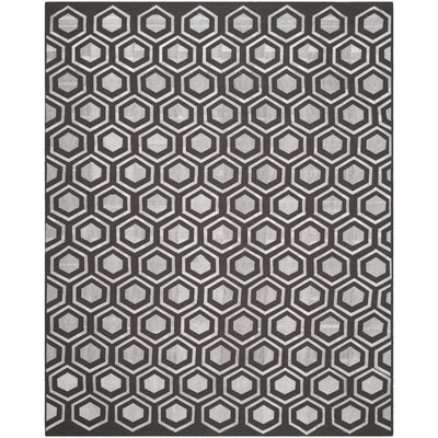 Barrier Charcoal Area Rug Rug Size: 8 x 10