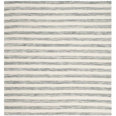 Mahaney Gray/Ivory Area Rug Rug Size: 6 x 9
