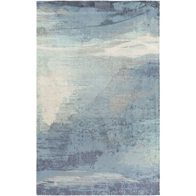 Greenlee Blue/Gray Area Rug Rug Size: 4 x 6
