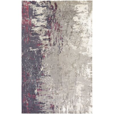 Hance Navy/Gray Area Rug Rug Size: Rectangle 5 x 76