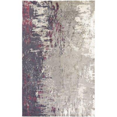 Hance Navy/Gray Area Rug Rug Size: 5 x 76