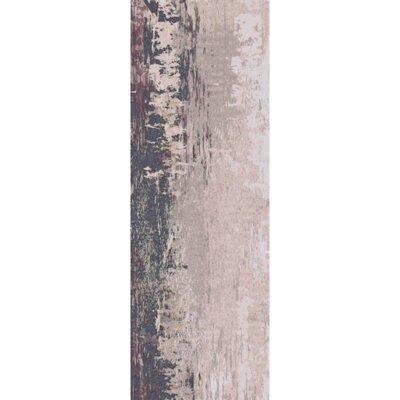 Hance Navy/Gray Area Rug Rug Size: Runner 26 x 8