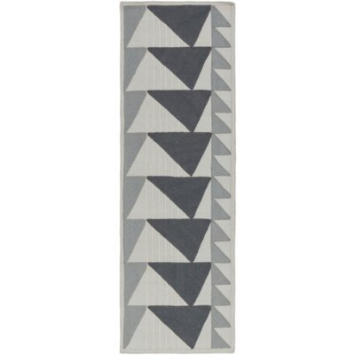 Haveman Charcoal/Light Gray Area Rug Rug Size: Runner 26 x 8