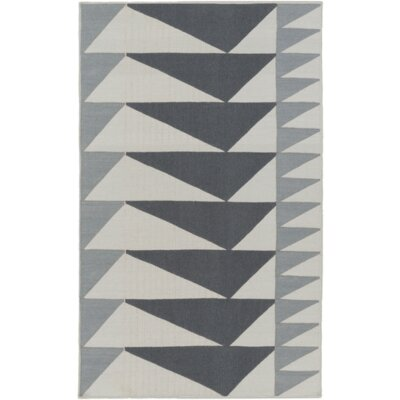 Haveman Charcoal/Light Gray Area Rug Rug Size: 4 x 6