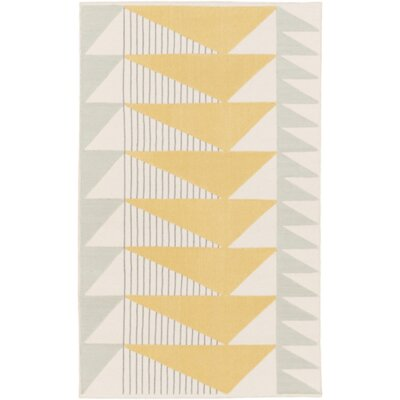 Haveman Gold & Gray Area Rug Rug Size: 2 x 3