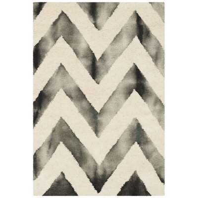 Vandermark Ivory/Charcoal Area Rug Rug Size: Rectangle 6 x 9