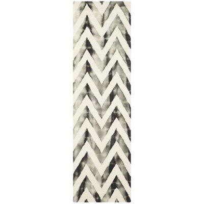 Vandermark Ivory/Charcoal Area Rug Rug Size: Runner 23 x 8