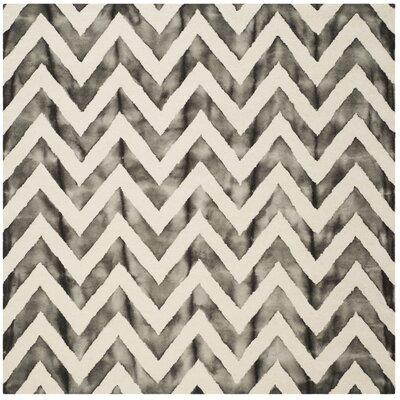 Vandermark Ivory/Charcoal Area Rug Rug Size: Square 7