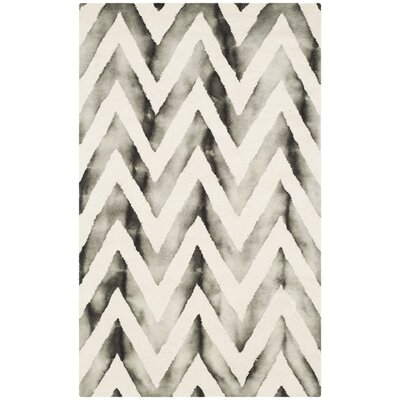 Vandermark Ivory/Charcoal Area Rug Rug Size: Rectangle 3 x 5
