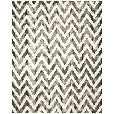 Vandermark Ivory/Charcoal Area Rug Rug Size: Rectangle 8 x 10