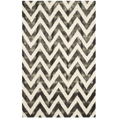 Vandermark Ivory/Charcoal Area Rug Rug Size: Rectangle 5 x 8