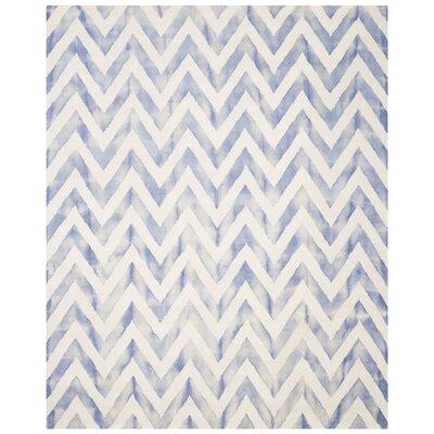 Chou Ivory/Blue Area Rug Rug Size: 8 x 10