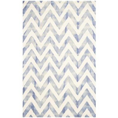 Chou Ivory/Blue Area Rug Rug Size: 5 x 8