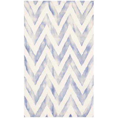 Chou Ivory/Blue Area Rug Rug Size: 3 x 5