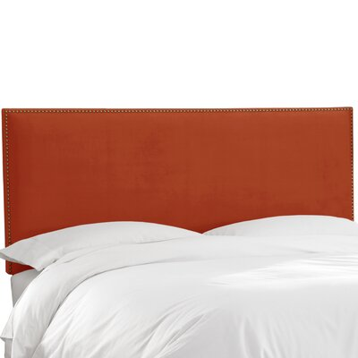Speight Nail Button Upholstered Panel Headboard Size: Twin, Upholstery: Mystere Hacienda