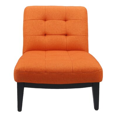 Arenas Slipper Chair Upholstery: Orange