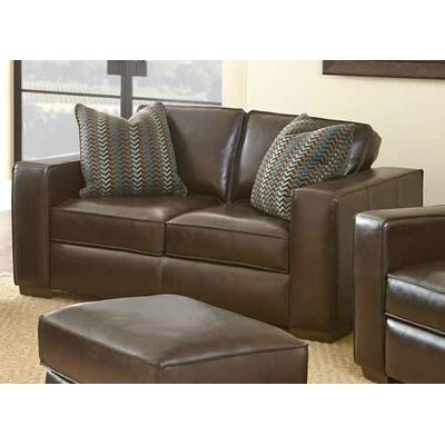 Tennison Leather Loveseat