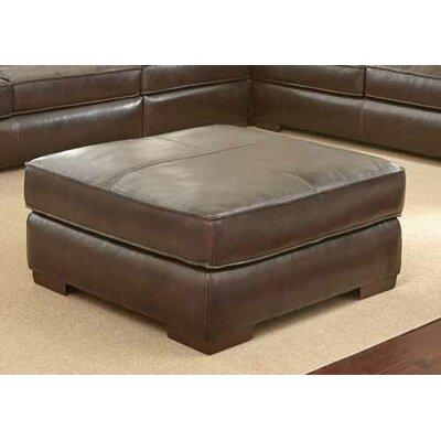 Tennison Leather Ottoman