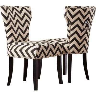 Kriebel Ring Side Chair Finish: Black / White