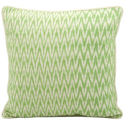 Gaiser Cotton Throw Pillow Color: Green