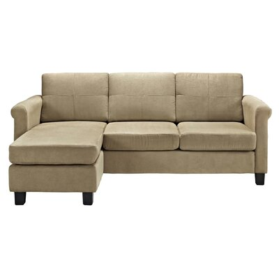 Lutz Reversible Sectional Color: Taupe