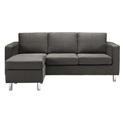 Lutz Reversible Sectional Color: Gray