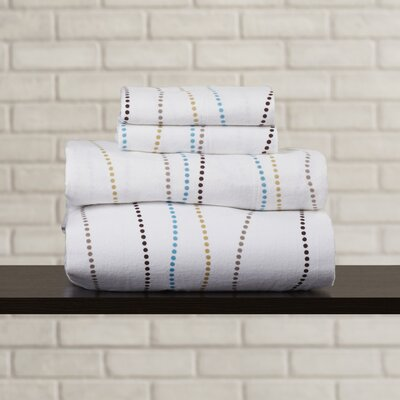 Vercher Deep Pocket Flannel Cotton Sheet Set Size: Extra-Long Twin