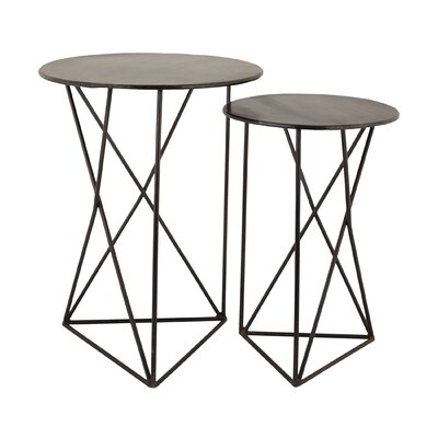 Brien 2 Piece Geometric End Table Set