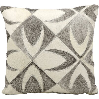 Raynolds Natural Leather Hide Throw Pillow
