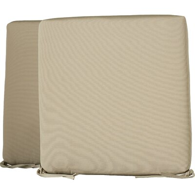 Mcneill Outdoor Dining Chair Cushion Size: 19, Fabric: Beige