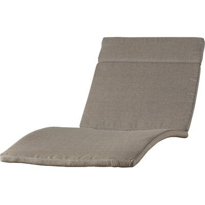 Cara Outdoor Chaise Lounge Cushion (Set of 2) Color: Charcoal