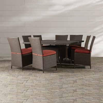 Luciano 9 Piece Dining Set with Cushions
