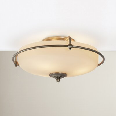 Helsley 3-Light Semi Flush Mount Finish: Antique Nickel