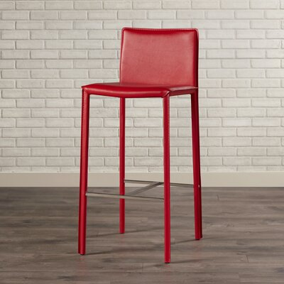 Reser 30 Bar Stool Finish: Red/Chrome