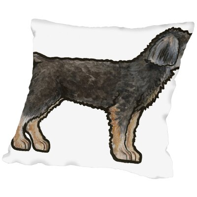 Salvador Yorkie Clipped Throw Pillow Size: 16 H x 16 W x 2 D
