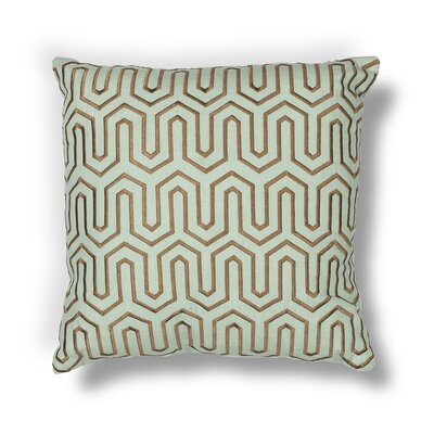 Rudisill Indoor/Outdoor Cotton/Linen Throw Pillow Color: Seaform / Chocolate