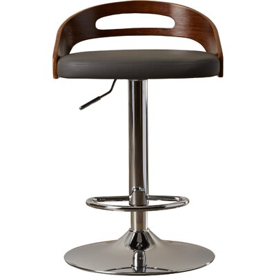 Zarate Swivel Bar Stool Upholstery: Grey