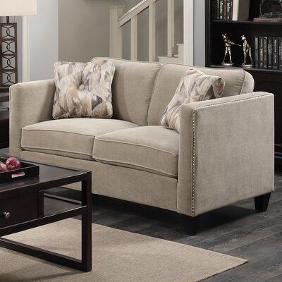 Baugh Loveseat Upholstery: Granite