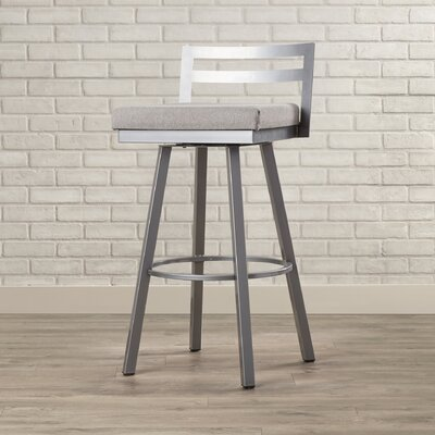 Penton 30.75 Swivel Bar Stool Upholstery: Light Cold Grey