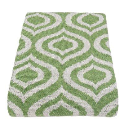 Kyros Handloom Royal Cotton Throw Blanket Color: Milk / Avocado