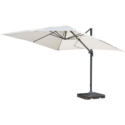 10 Square Cantilever Umbrella with Base Color: Beige