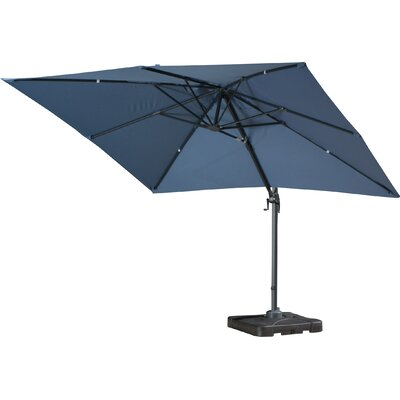 10 Square Cantilever Umbrella with Base Color: Blue Lavender