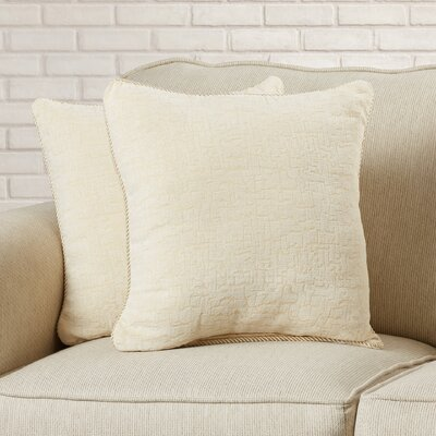 Seman Solid Cotton Throw Pillow Color: Eggshell