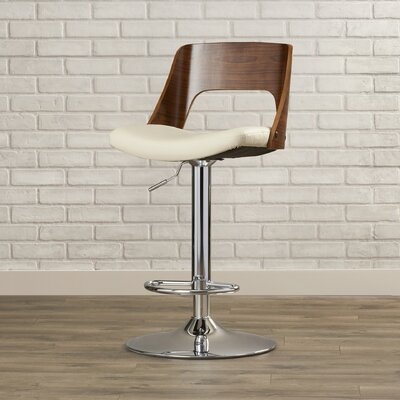 Arechiga Swivel Bar Stool Upholstery: Cream