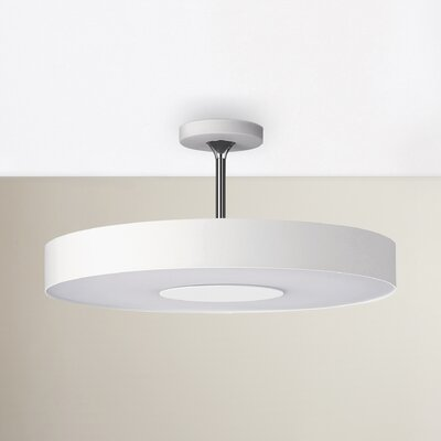 Stoll 1-Light Semi Flush Mount Finish: White