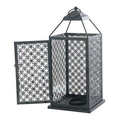 Metal Lantern Size: 17.25 H x 7.75 W x 7.75 D